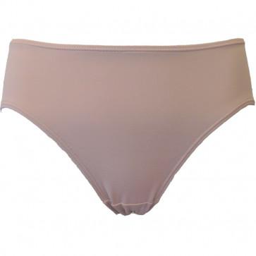 Hudfarvet trusse med bikini-snit