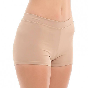 Hudfarvede hotpants med bred elastik