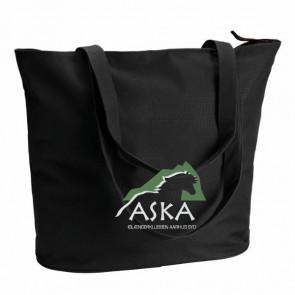 Shopper / taske med lynlås inkl. ASKA tryk