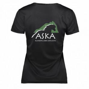 Funktionel t-shirt med v-hals inkl. ASKA tryk