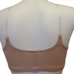 Pull-on hudfarvet bh top