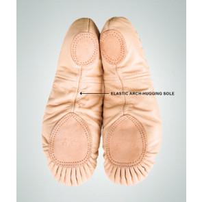 Splitsål læder balletsko