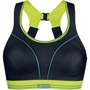Run - løbe bh 75E Sort/limegrøn