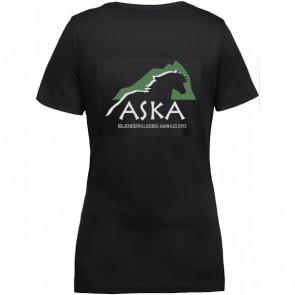 T-shirt med v-hals incl. ASKA tryk