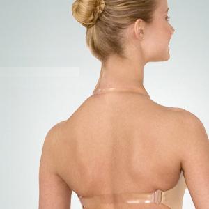 Hudfarvet bh med bar ryg